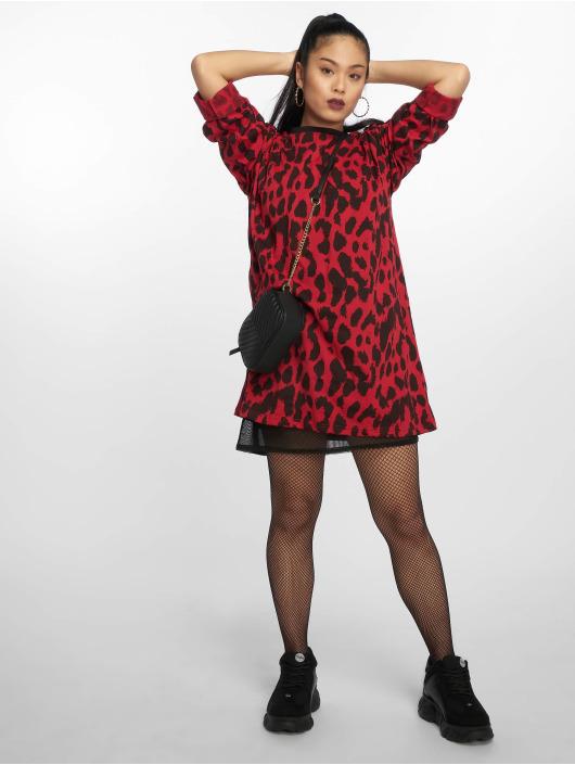 Missguided Dress Oversized Longsleeve red