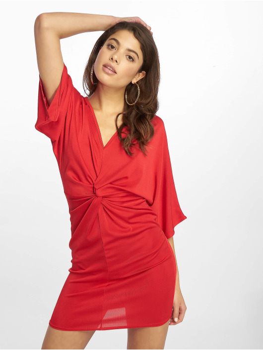 Missguided Dress Kimono Sleeve Twist red