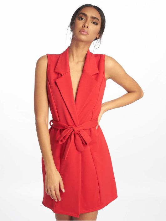 Missguided Dress Sleeveless Blazer red