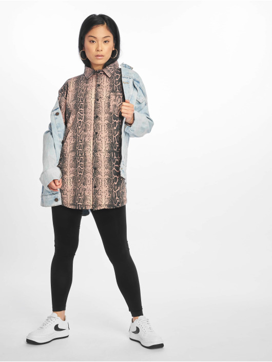 Missguided Dress Oversized Ls Jersey rose