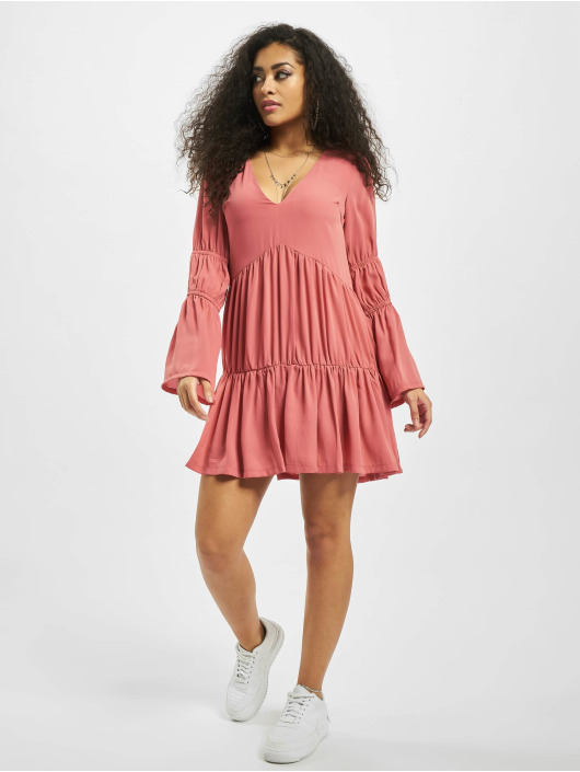 Missguided Dress V Neck Tiered Smock rose