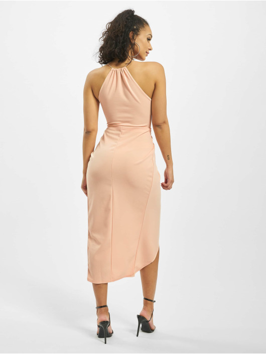 Missguided Dress Halter Wrap Bodycon rose