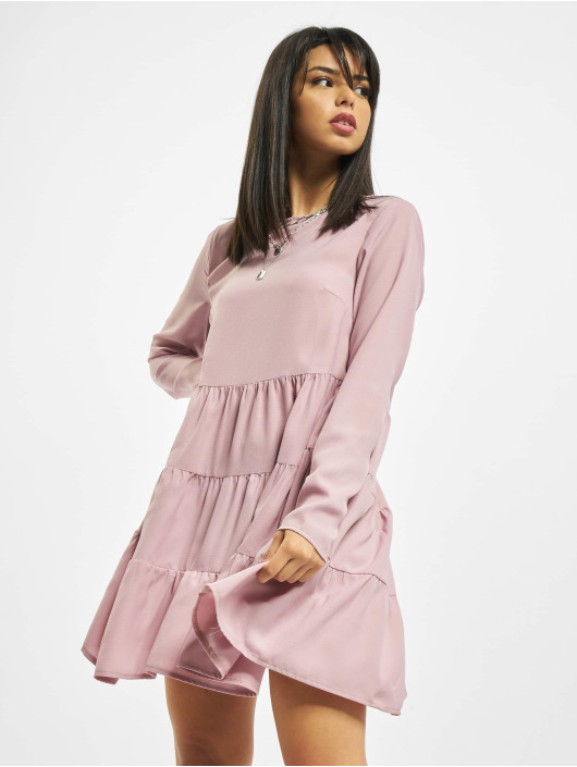 Missguided Dress Tiered rose