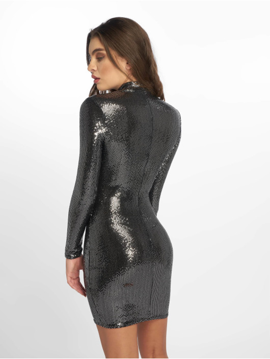 Missguided Dress Sequin silver colored