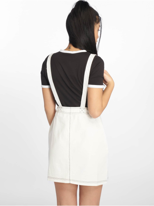 Missguided Dress Pini Contrast Stitch white