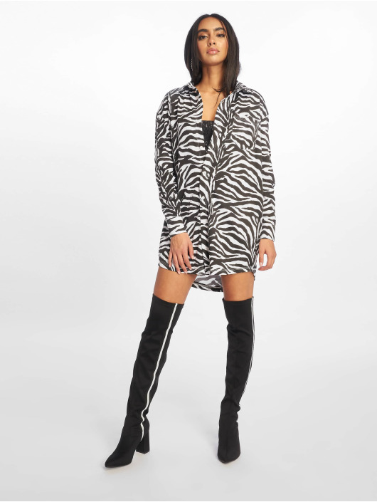 Missguided Dress Oversized Jersey white