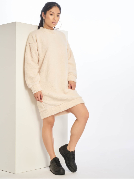 Missguided Dress Crew Neck white