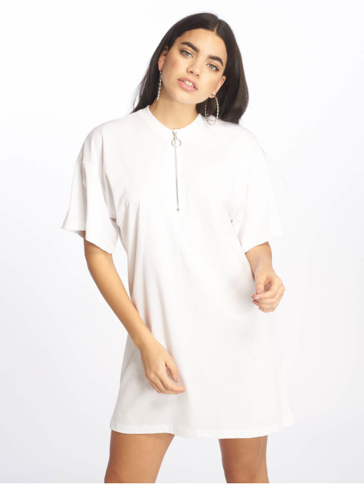 Missguided Dress Oversized SS white