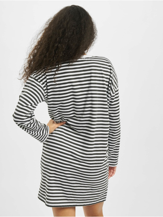 Missguided Dress Oversized Longsleeve Stripe T-Shirt white