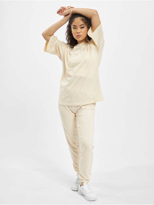Missguided Dresy Petite Tshirt Coord Jogger bezowy