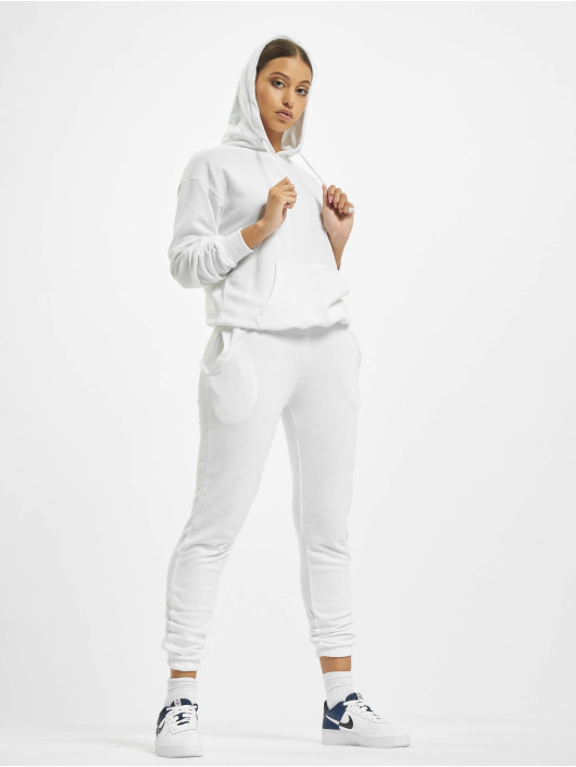 Missguided Dresy Hoody And Jogger bialy