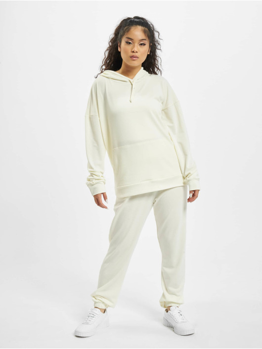Missguided Dresy Petite Hoody And Jogger bialy