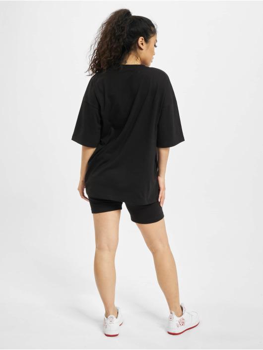 Missguided Dresy Coord Tshirt & Cycling czarny