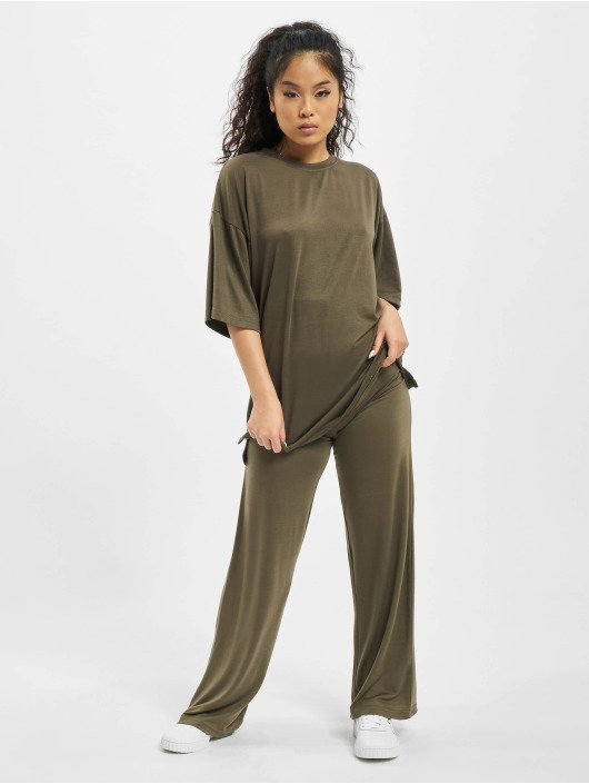 Missguided Dresy Coord Jersey khaki
