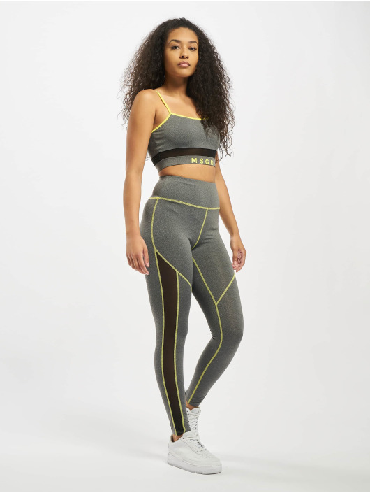 Missguided Dresy Mesh Panel Active szary