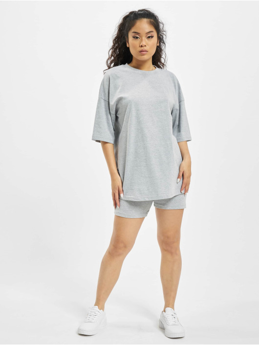 Missguided Dresy Coord Tshirt & Cycling szary