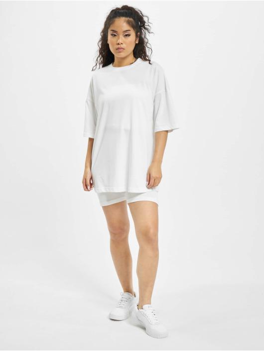Missguided Ensemble & Survêtement Coord Tshirt & Cycling blanc