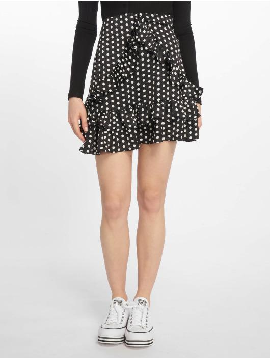 Missguided Falda Polka Dot Frill negro