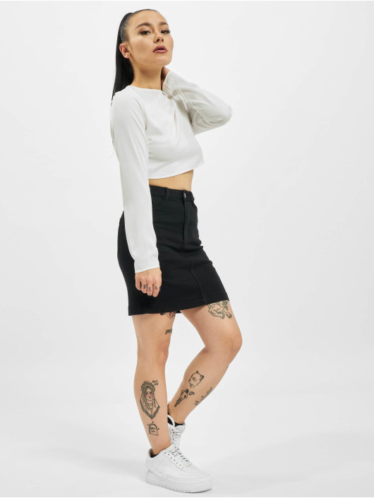 Missguided Falda Denim Super Stretch Mini negro