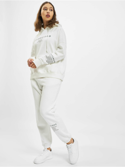 Missguided Felpa con cappuccio Mishort Sleeveguided Branded bianco