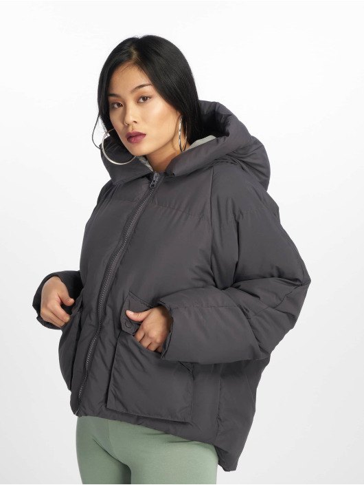 Missguided Gewatteerde jassen Hooded Ultimate grijs