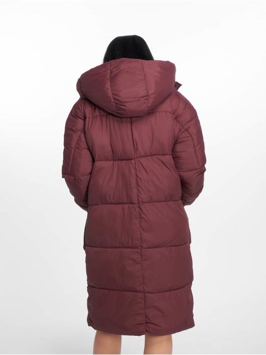 Missguided Gewatteerde jassen Longline rood