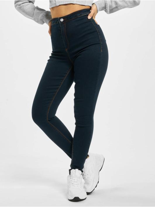 Missguided Højtaljede bukser Vice blå