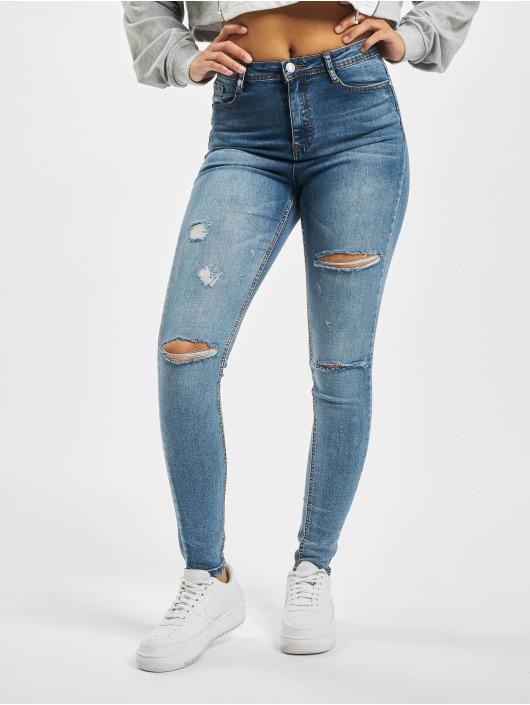 Missguided Højtaljede bukser Vintage Sinner Slash High blå