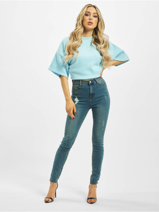 Missguided Høy midje Jeans Vintage Sinner Clean High Waist blå