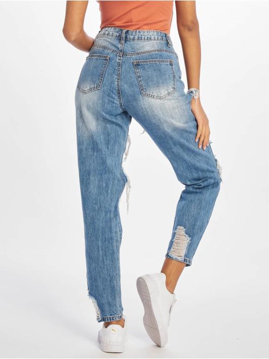 Missguided High Waist Jeans Riot blau