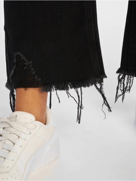 Missguided High Waist Jeans Wrath schwarz