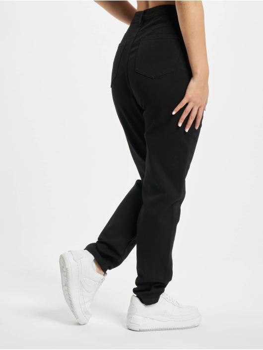 Missguided High Waist Jeans Comfort Stretch Denim schwarz
