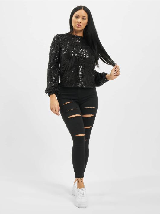 Missguided High Waisted Jeans Petite Vice Rip Skinny High Waist èierna
