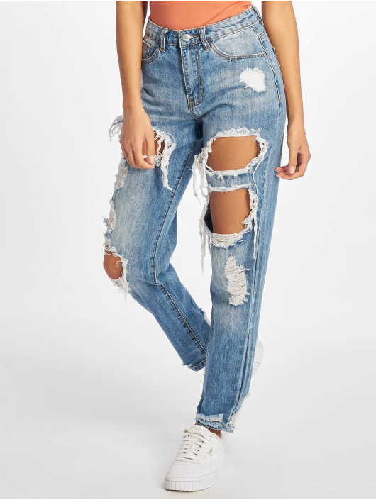 Missguided High Waisted Jeans Riot blauw
