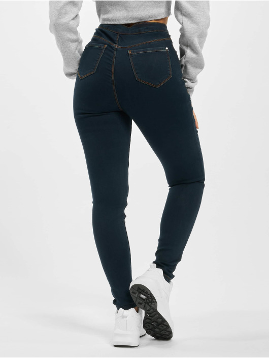 Missguided High Waisted Jeans Vice blauw