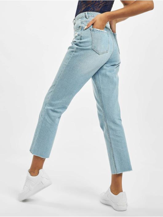 Missguided High Waisted Jeans Wrath Straight Leg High Waist blu