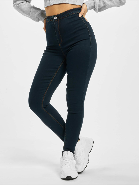 Missguided High Waisted Jeans Vice blu