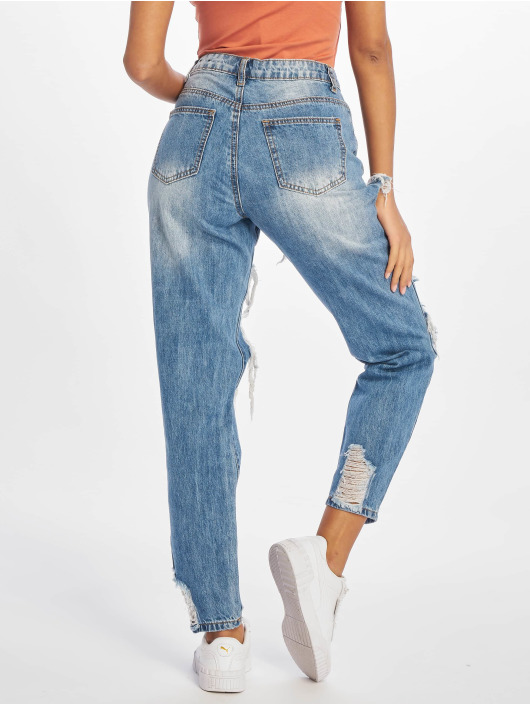 Missguided High Waisted Jeans Riot blue