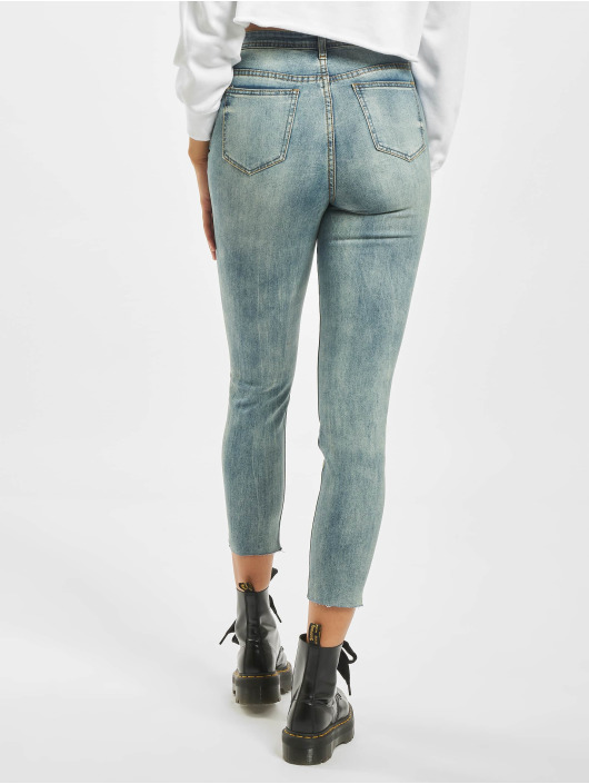 Missguided High Waisted Jeans Petite Sinner blue
