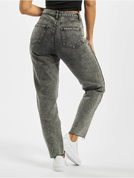 Missguided High Waisted Jeans Riot Raw Hem Co Ord grigio