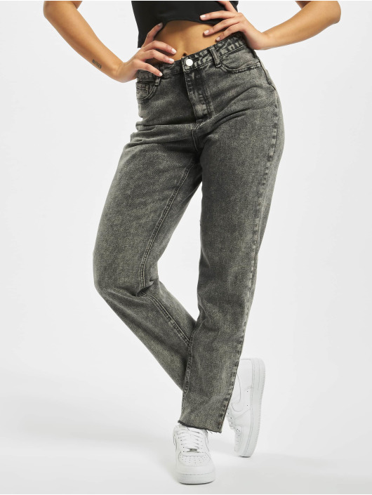 Missguided High Waisted Jeans Riot Raw Hem Co Ord grijs