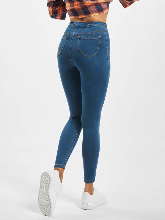 Missguided High Waisted Jeans Vice modrá