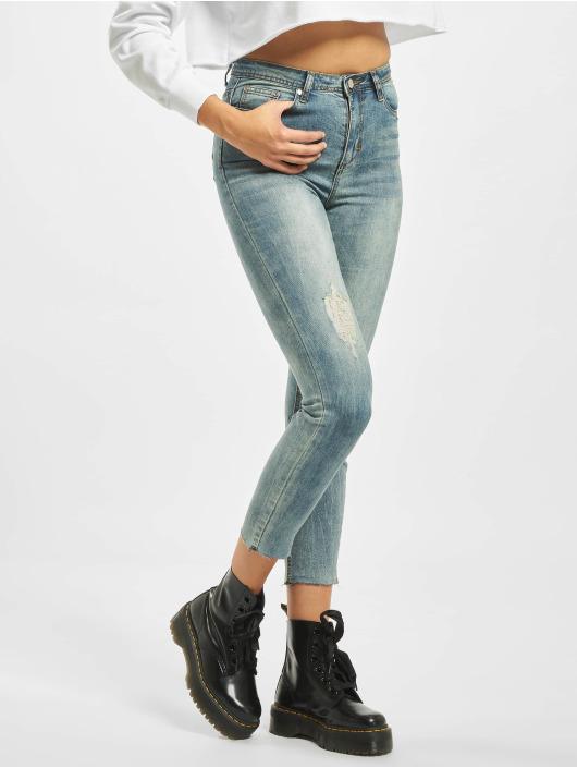 Missguided High Waisted Jeans Petite Sinner modrá