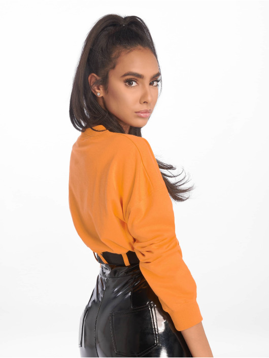 Missguided Hihattomat paidat Belted Crop Sweat oranssi
