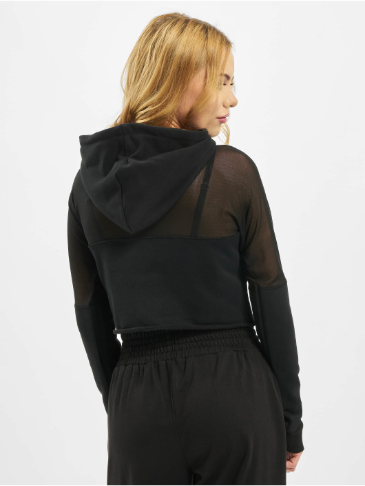 Missguided Hoodie Active Mesh Panel black