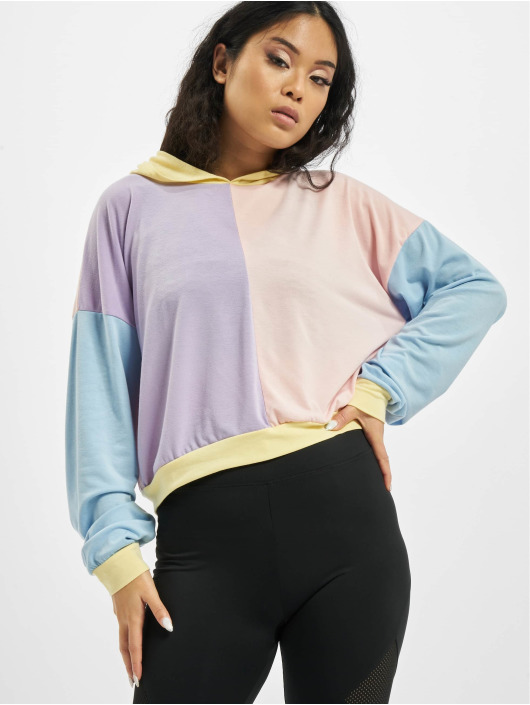 Missguided Hoodie 4 Way Colour Block Over Size färgad