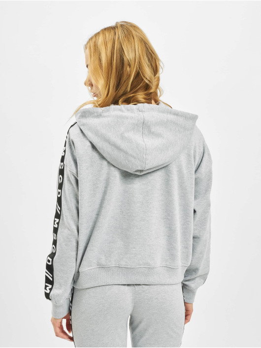 Missguided Hoodie Slogan Sleeve Lounge gray