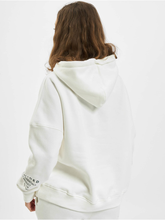 Missguided Hoodie Mishort Sleeveguided Branded white