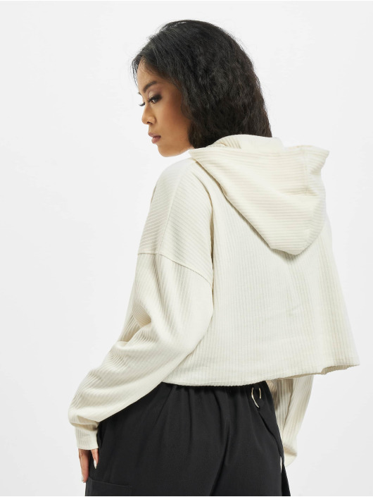 Missguided Hoodie Cropped white