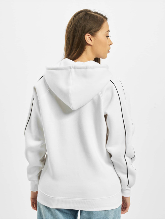 Missguided Hoodies Co Ord Contrast Seam Toggle Detail bílý